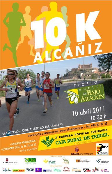 Abiertas las incripciones para la 10k Alcañiz, Trofeo Aceite del Bajo Aragón
