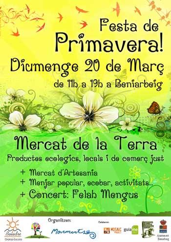 Fiesta de Primavera del Mercat de la Terra, Beniarbeig (Valencia)