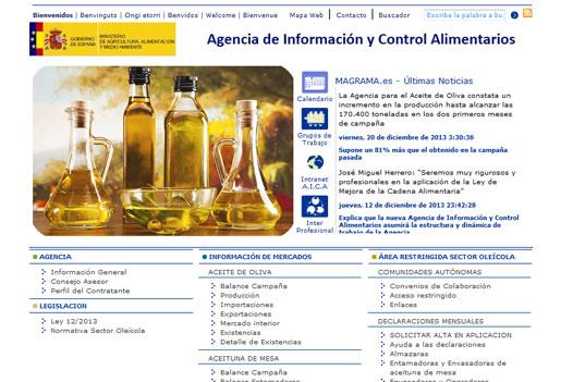 Desaparece la Agencia para el Aceite de Oliva y la sustituye la AICA